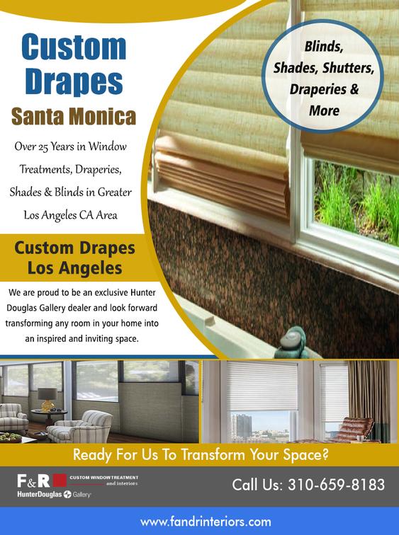 Custom drapes Santa Monica