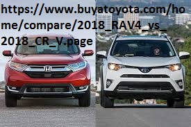 https://www.buyatoyota.com/home/compare/2018_RAV4_vs_2018_CR_V.page - The Honda CR-V and the Toyota RAV4 are just two of the 2018 rav4 vs 2018 honda cr-v comparison earliest guards in the streamlined SUV 2018 rav4 vs 2018 honda cr-v course.
