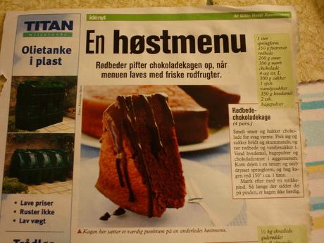Billede fra Idényt af chokoladerødbedekageopskriften