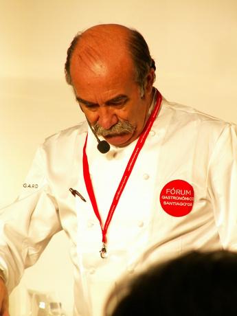 O chef Rivera no Forum Gastronómico de Santiago de Compostela