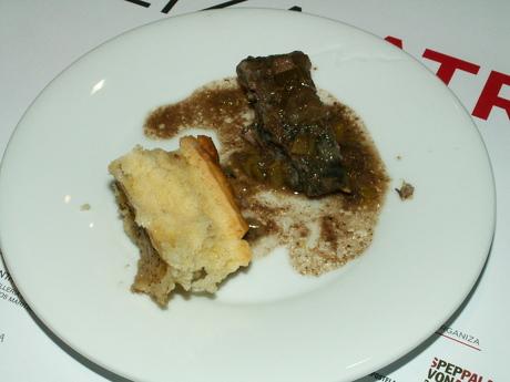 Timbal de Lamprea polo Chef Rivera no Forum Gastronómico de Santiago de Compostela