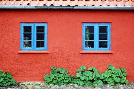 Et rødkalket hus i Ringkøbing