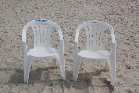 Strandstole på Hvide Sande Strand til North Sea Beach Marathon 2008
