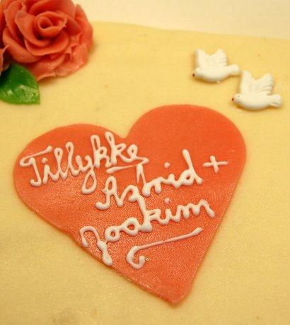 Astrid og Joakims bryllupskage