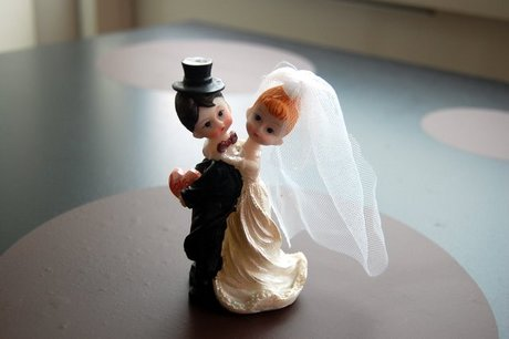 Kransekagefigurerne fra bryllupskagen