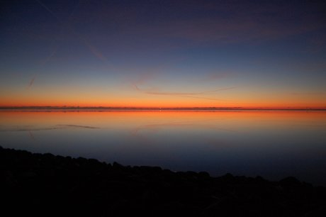 Solnedgang ved Ringkøbing fjord 020109