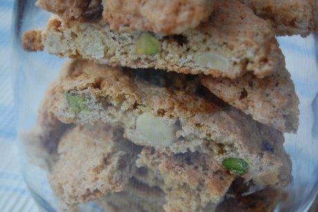 Biscotti med pistacienødder