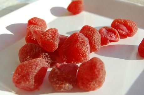 Tørrede jordbær