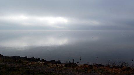 Gråvejr over Ringkøbing Fjord