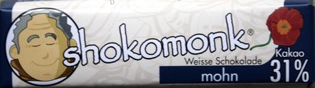 shokomonk Weisse Schokolade Mohn
