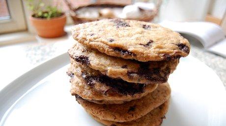 Denne gang blev megacookie til en mega stabel cookies.