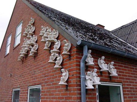 Kalkengle på en husgavl