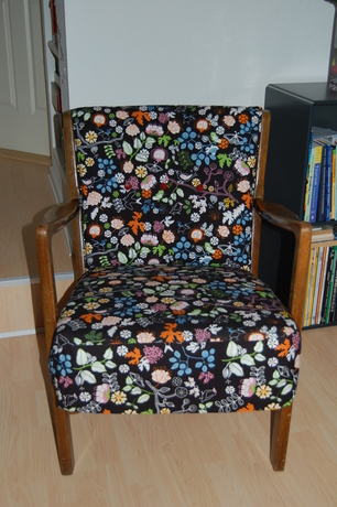 Farmors gamle stol i nye IKEA-klæder