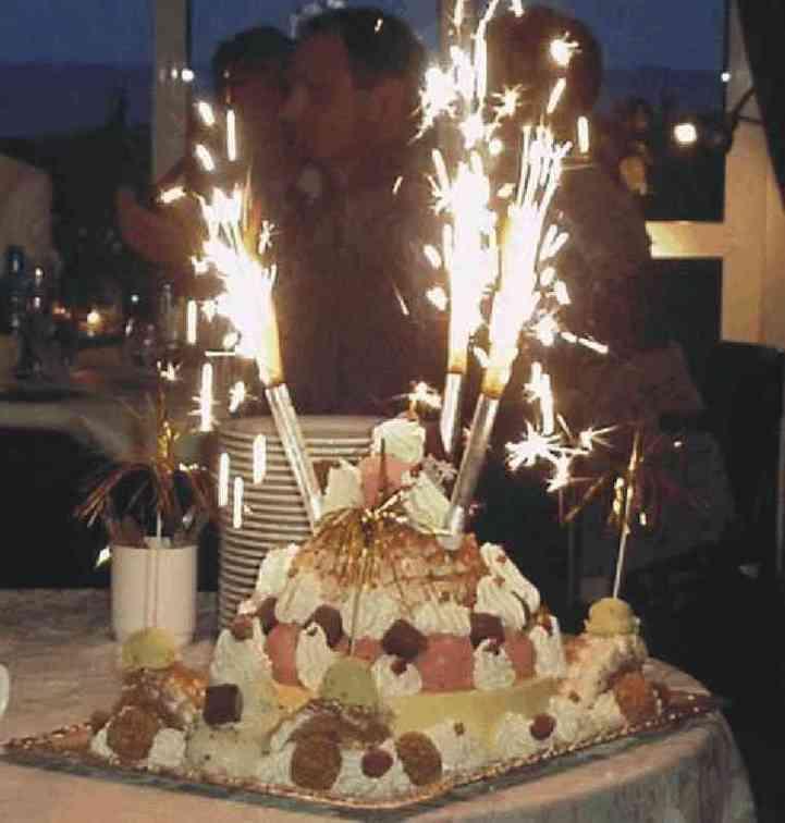 Using Sparklers On Cake