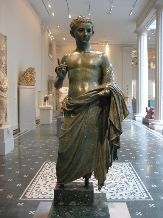 Bronze statue of an aristocratic boy Roman Augustan period 27 BCE-14 CE