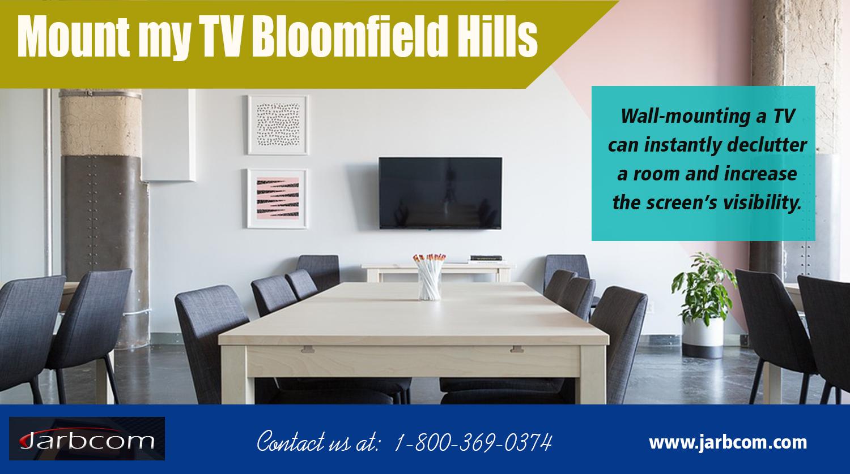 Mount my TV Bloomfield Hills