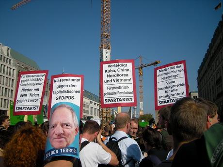 Vertreter der trotzkistischen Spartakist-Arbeiterpartei