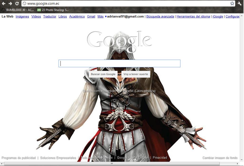 Personalizar google