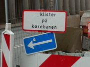 Advarsel: Klister på kørebanen!